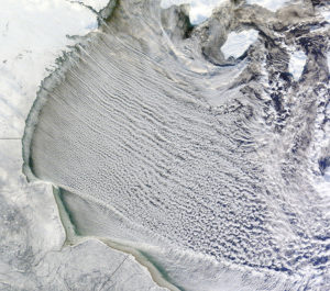 cloud streets over Hudson Bay