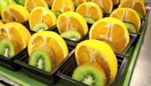 free school breakfast - oranges and kiwis