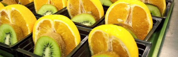 free school breakfast - oranges and kiwis