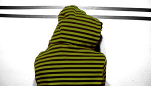 green striped hoodie