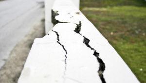 cracked fence