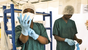 ebola treatment center in Guinea