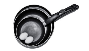 eggs and frying pans