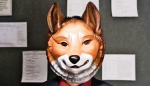 office worker in fox mask - moral spillover