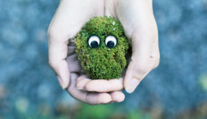 cute moss face - earth day