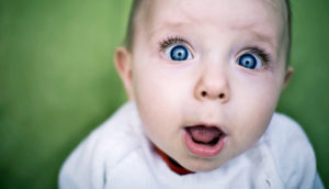 surprise! baby face