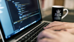 coding hands