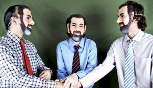 business men wear masks