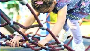 girl on playground net