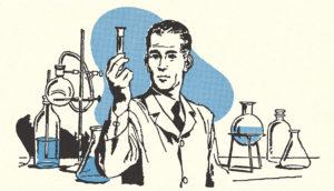 retro science illustration