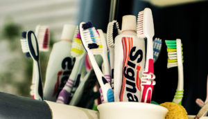 toothbrushes on counter - story on L-arginine