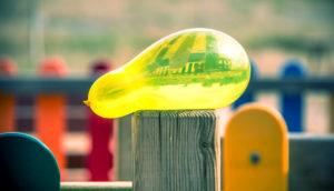 yellow water balloon