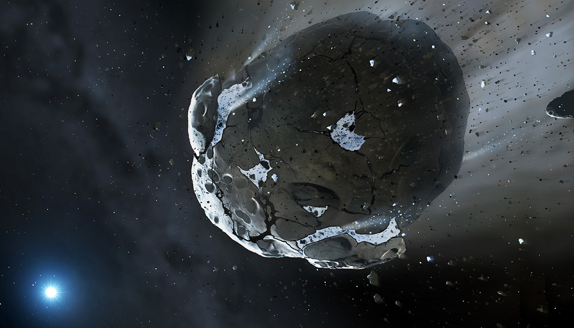 Asteroids probably deliver water to other planets