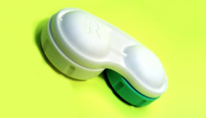 neon green contacts case