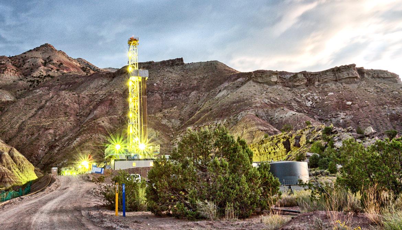 fracking in eerie light