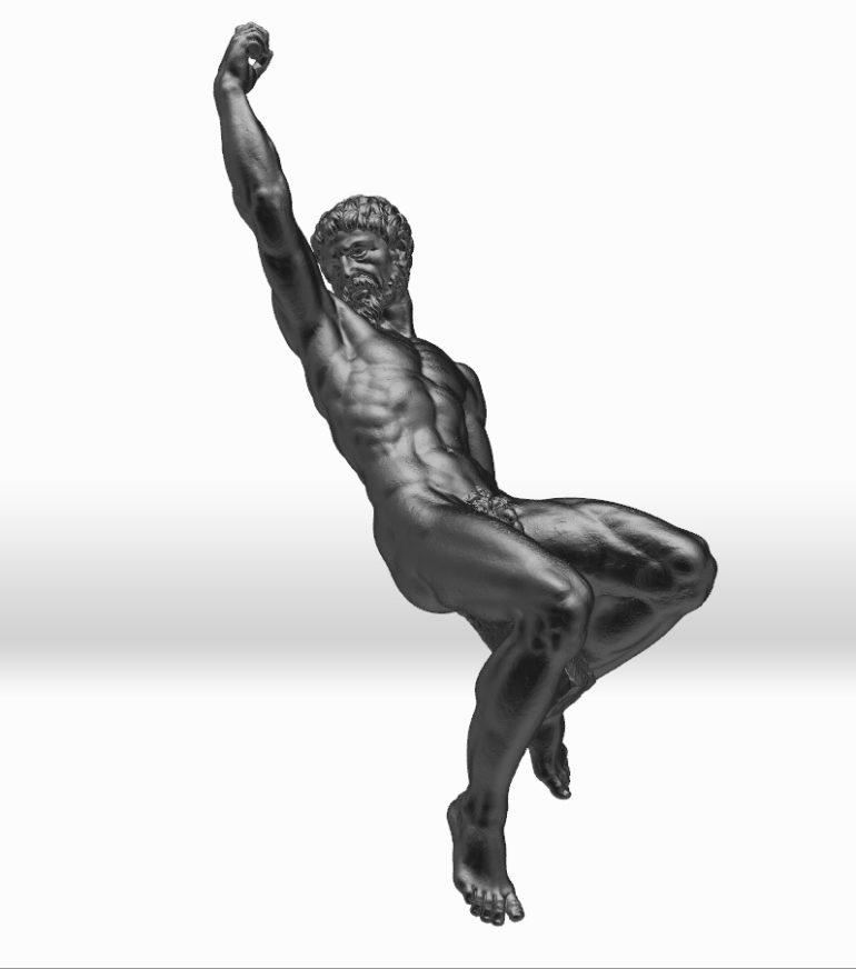 replica of bronze statue