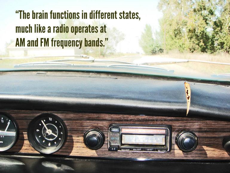 car dashboard and radio