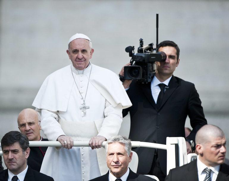 Pope Francis motorcade