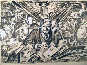 political cartoon of Herbert Hoover