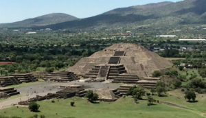 Moon pyramid view from Sun pyramid at Teotithuacan