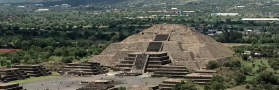 Moon pyramid view from Sun pyramid at Teotithuacan