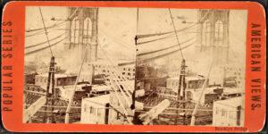 Brooklyn Bridge stereoscopic image