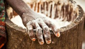 making cassava flour
