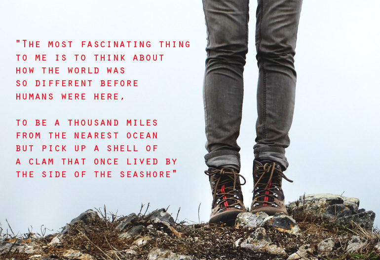hiking boots & quote