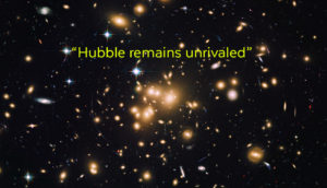 Hubble image of faint galaxies