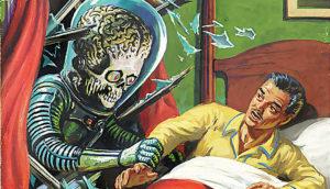 Mars Attacks - alien and retro guy