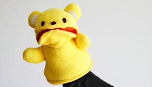yellow bear puppet