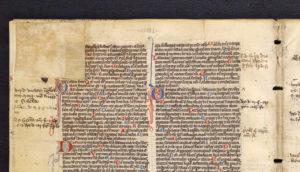pocket bible - beginning of Psalms