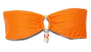 orange bikini top on white