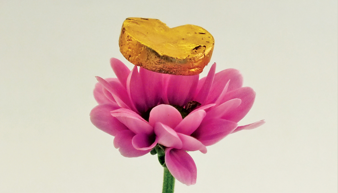 gold foam on flower