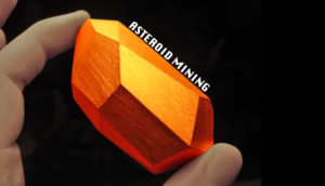 orange gem - asteroid mining