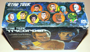 vintage box for a Star Trek tricorder toy