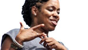 woman signs - ASL