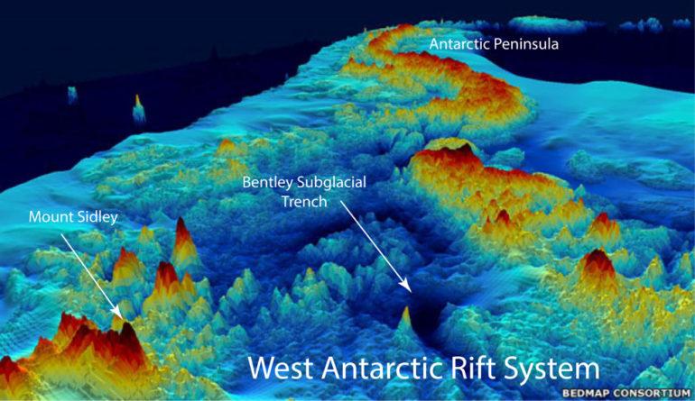 topography of West Antarctica