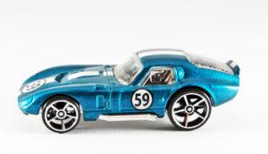 sparkly blue toy racecar