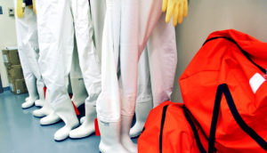 lab safety suits and bags