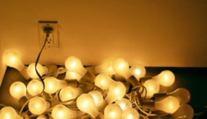 jumble of lightbulbs