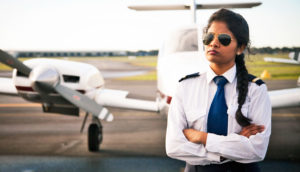 young female pilot