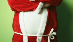 man wearing a Santa robe