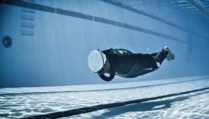 swimmer in pool lane