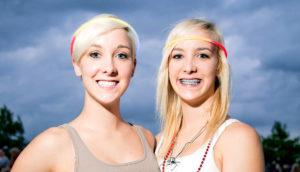 twin teenagers
