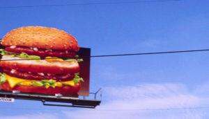 burger billboard sign