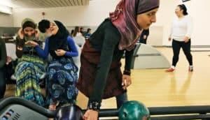muslim girls bowling