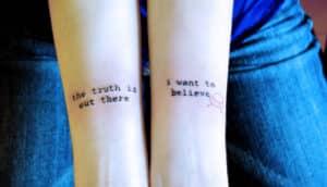 X-Files tattoo