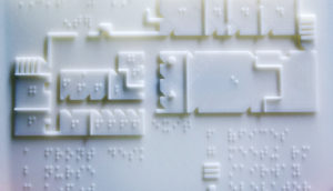 3D-printed braille map