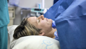 woman having a C-section
